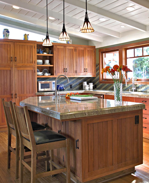 Kurt langenhahn designs for Arts and crafts kitchen designs